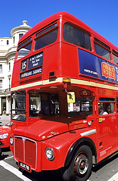 Routemaster double decker bus, London, England, United Kingdom, Europe