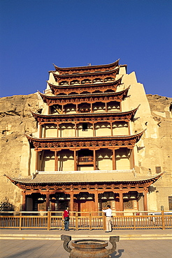 Mogao Caves, UNESCO World Heritage Site, Dunhuang, Gansu Province, China, Asia