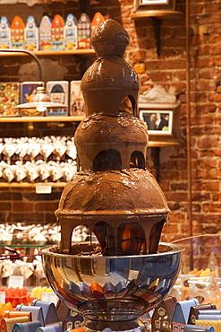 Chocolate fountain, Brussels, Belgium, Europe