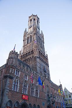 The Belfry Tower, Bruges, UNESCO World Heritage Site, Belgium, Europe