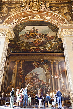 The Painted Hall, artwork by Sir James Thornhill, Old Royal Naval College, Greenwich, London, England, United Kingdom, Europe