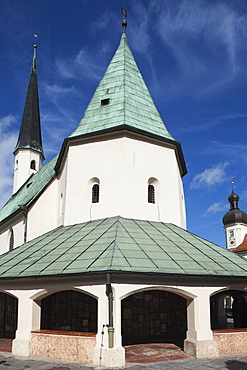 Church of the Miraculous Image (Gnadenkapelle), Altotting, Upper Bavaria, Germany, Europe