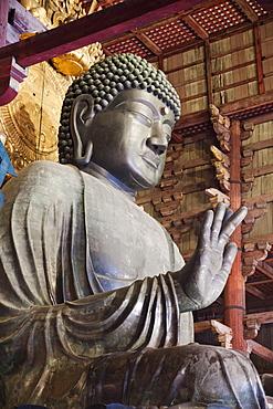 Statue of Buddha, Todaiji Temple, Nara, UNESCO World Heritage Site, Japan, Asia