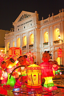 Chinese decorations in Senado Square, Macau, China, Asia