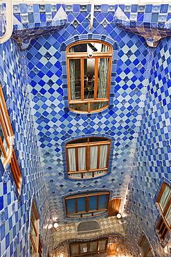 Interior, Casa Batllo, UNESCO World Heritage Site, Barcelona, Catalonia, Spain, Europe