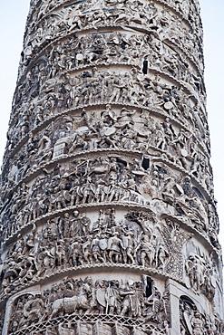 Column of Marcus Aurelius, Piazza Colonna, Rome, Lazio, Italy, Europe