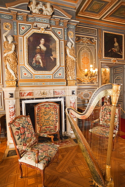 The Grand Salon, Cheverny Castle, Loir et Cher, Loire Valley, France, Europe
