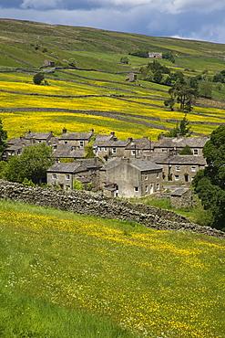 Thwaite Village, Swaledale, Yorkshire Dales National Park, Yorkshire, England, United Kingdom, Europe