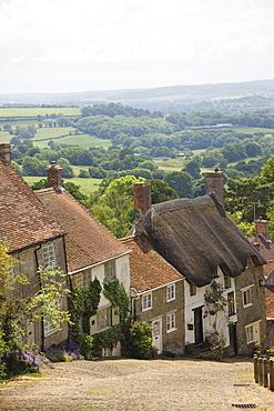Gold Hill, Shaftesbury, Dorset, England, United Kingdom, Europe