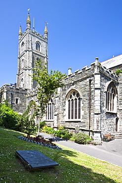 Fowey Parish Church in Fowey, Cornwall, England, United Kingdom, Europe