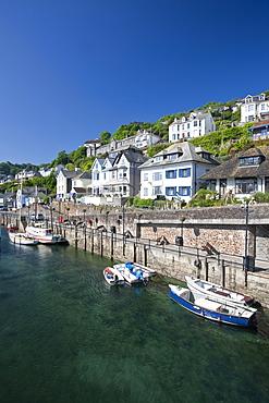 Riverside properties at Looe, Cornwall, England, United Kingdom, Europe