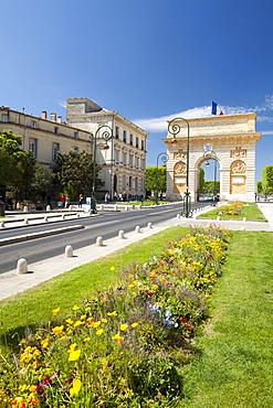 The Arc de Triomphe, Rue Foch, Montpellier, Languedoc-Roussilon, France, Europe