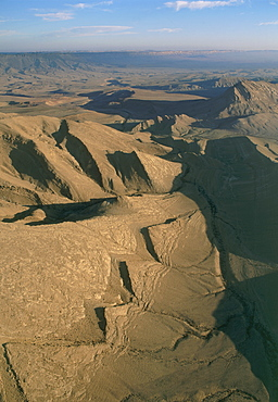 Aerial southern Ramon crater in the Negev desert, Israel
