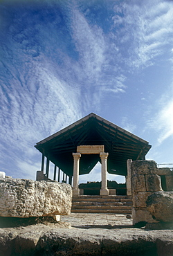Photograph of the archeologic site of Susiya dated to the Byzantine period, Israel