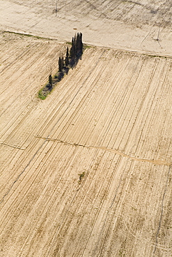 Aerial photograph of the agriculture fields of the Plain, Israel