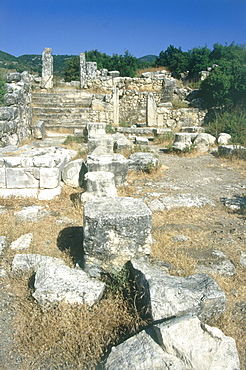Photograph of the ruins of Shema in the Upper Galilee, Israel