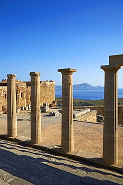 Acropolis, Lindos, Rhodes, Dodecanese, Greek Islands, Greece, Europe