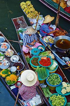 Floating market, Damnoen Saduak, Ratchaburi Province, Thailand, Southeast Asia, Asia