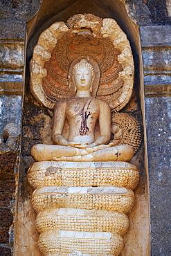 Wat Chedi Chet Thaeo Temple, ancient city Si Satchanalai, UNESCO World Heritage Site, Sukhothai Province, Thailand, Southeast Asia, Asia