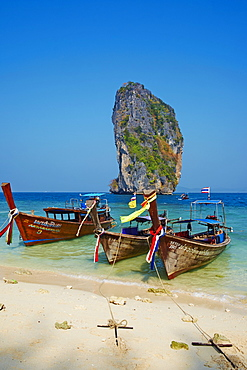 Ao Phra Nang Bay, Ko Poda Island, Krabi Province, Thailand, Southeast Asia, Asia