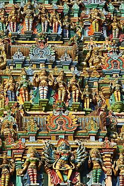 Detail, Sri Meenakshi temple, Madurai, Tamil Nadu, India, Asia