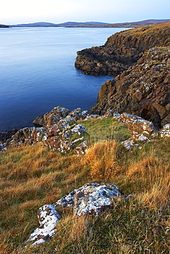 View from the small island of Oronsay, Isle of Skye, Scotland, United Kingdom, Europe