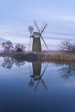 A view of Turf Fen Mill, Norfolk Broads, Norfolk, England, United Kingdom, Europe