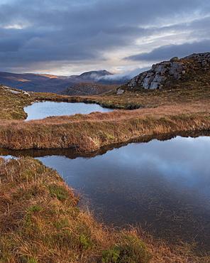 Highland scenery near Inchnadamph, Sutherland, Scotland, United Kingdom, Europe