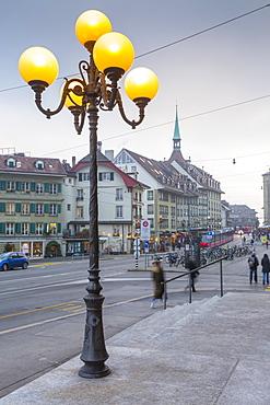 Shops on Kornhausplatz, Bern, Jungfrau region, Bernese Oberland, Swiss Alps, Switzerland, Europe