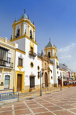 View of church Iglesia del Socorro, Plaza del Socorro, Ronda, Andalusia, Spain, Europe