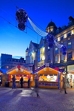 Christmas Market, Sheffield, South Yorkshire, Yorkshire, England, United Kingdom, Europe
