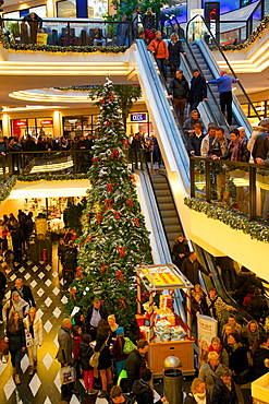 Saturn Shopping Centre at Christmas, Munster, North Rhine-Westphalia, Germany, Europe
