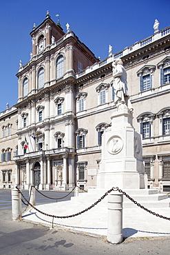 Ducal Palace and statue, Modena, Emilia Romagna, Italy, Europe