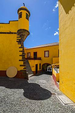 View of Fortress courtyard, Funchal, Madeira, Portugal, Atlantic, Europe