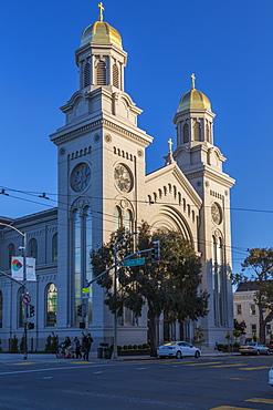 View of St. Joseph's Church, South of Market, San Francisco, California, United States of America, North America