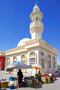 Al Ain, Mosque at Central Market, Al Ain, Abu Dhabi, United Arab Emirates, Middle East