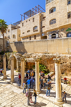 Roman excavations in Old City, Old City, UNESCO World Heritage Site, Jerusalem, Israel, Middle East