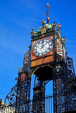 East Gate Clock, Chester, Cheshire, England, United Kingdom, Europe