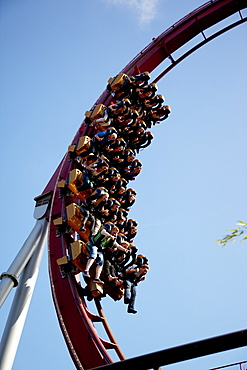 Rollercoaster, Tivoli Gardens, Copenhagen, Denmark, Scandinavia, Europe