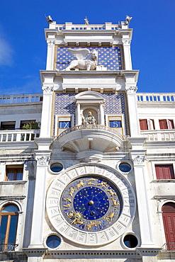 Torre dell Orologio Clocktower, Piazza San Marco, Venice, UNESCO World Heritage Site, Veneto, Italy, Europe
