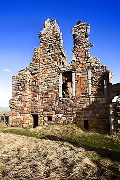 The Ruin of Newark Castle on the Fife Coast Path near St. Monans, Fife, Scotland, United Kingdom, Europe