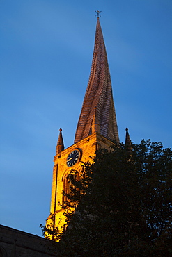 The Crooked Spire at the Parish Church of St. Mary and All Saints, Chesterfield, Derbyshire, England, United Kingdom, Europe