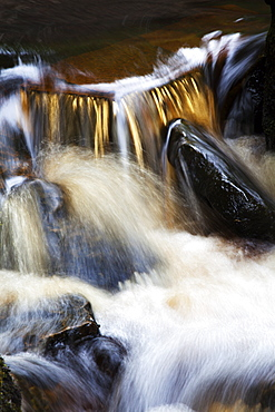 Waterfall in Whitfield Gill near Askrigg, Wensleydale, North Yorkshire, Yorkshire, England, United Kingdom, Europe