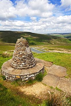 Muker Parish 2000 Stone Seat above Thwaite in Swaledale Yorkshire Dales, Yorkshire, England, United Kingdom, Europe