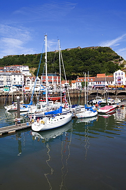 The Old Harbour, Sandside and Castle Hill, Scarborough, North Yorkshire, Yorkshire, England, United Kingdom, Europe