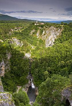 The village of Skocjan, sitting above the famous caves of Skocjanske jame, UNESCO World Heritage Site, Goriska, Slovenia, Europe