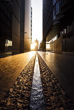 Sunrise from More London Place, London, England, United Kingdom, Europe