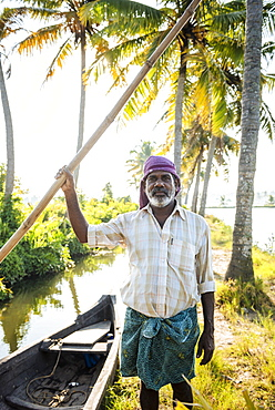 Portrait of Anthony, Backwaters near North Paravoor, Kerala, India, South Asia