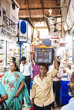 Interior of Crawford Market, Mumbai, India, South Asia