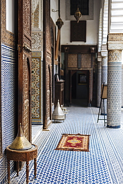 Interior of Musee Riad Belghazi, Fes, Morocco, North Africa, Africa